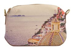 Love this! Canvas Beauty Case - Emporio Sirenuse Shopping In Italy, Beauty Case, Saddle Bags, Pouch, Things To Come, Purses, Canvas, Leather, Accessories