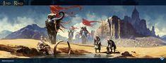 Sands of Harad, Tomasz Jedruszek on ArtStation at https://www.artstation.com/artwork/EOGE4