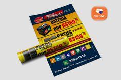 Flyer promoção de de PNEUS e Bateria - CJ Automotiva. #arconel #Cjautomotiva #flyers #divulgação