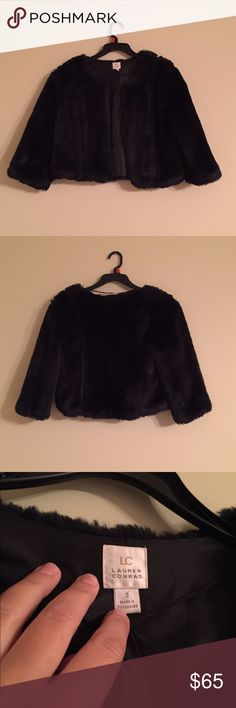 ⚡️CLOSET SALE⚡️LC Faux Fur Coat Worn only once. It is a cropped sweater and very soft.Closet Sale Buy 2 items and Get the 3rd FREE- if you are interested check out the sale listing LC Lauren Conrad Jackets & Coats Puffers