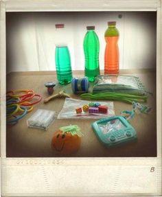 ZAP doos: Een SUPER voorbeeld van een ZAP doos toegespitst op de behoefte van je kind, welke tactiele en visuele prikkels vind jouw kind fijn? En waar en wanneer zet je ze in?