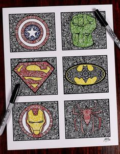 Awesome superhero adult coloring book - Visit to grab an amazing super hero shirt now on sale!