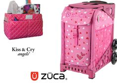Zuca Sport Bag - Sweetheartz (Limited Edition) & Kiss and Cry Rink Tote (Bubbly Pink) #figureskating #figureskatingstore #figureskates #skating #skater #figureskater #zucabag #zuca #zucabags #zuca #backpack #zucabackpack #iceskatebag #skatebags #ice #skatingbag #zucastore #zucabackpacks #zucaskatebag
