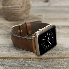 APPLE WATCH BAND Brown Apple watch double tour genuine leather strap. Genuine leather Apple Watch Band handmade watch band made of high quality materials %100 Genuine leather Series 1 , 2 and 3 Adapters in 4 different colors : Silver, Black, Gold, Rose Gold Size: Long Track: 12.4 (31.5 cm) Short Track: 2.68 (6.8 cm) Band size for 42mm and 38mm Express shipping: We send your products with express TNT cargo. Estimated shipping times North America: 1-5 business days Europe: 1-2 bu...