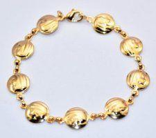 Our Lady of Lourdes Gold Rosary Bracelet. Gold Rosary, Our Lady Of Lourdes, Rosary Bracelet, Bracelets, Silver, Jewelry, Jewlery, Jewerly, Schmuck