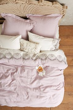 Soft-Washed Linen Duvet #anthroregistry