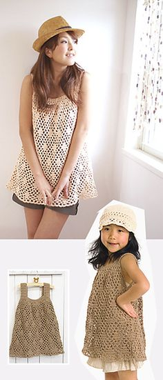 Japanese crochet teen fashion  Ravelry: Craft Cotton Tunic pattern by Pierrot (Gosyo Co., Ltd)