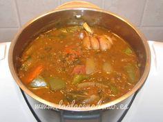 Cocina de cuchara: receta para hacer lentejas estofadas con thermomix en http://laalacenademo.es/recetas-thermomix/cuchara/lentejas-estofadas/138/