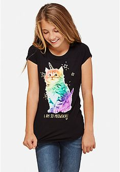 Meowgical Glitter Graphic Tee