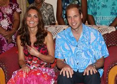 The Duke and Duchess smiled in traditional Island clothing as they visited the Governor General's house.                                     via @AOL_Lifestyle Read more: http://www.aol.com/article/2015/03/06/kate-middletons-style-transformation-all-of-her-best-royal-loo/20642964/?a_dgi=aolshare_pinterest#slide=12155|fullscreen
