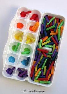 We came up with a fun rainbow color sorting busy bag that is so simple to put together and helps preschool kids learn colors.