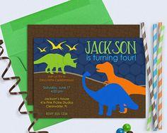 Dinosaur Birthday Invitations Dinosaur Invitations Dinosaur