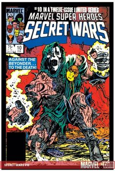 Marvel Super Heroes Secret Wars 1984 (This was a game changer for us. It was such a great story line across the entire Marvel-verse. Marvel Comics, War Comics, Marvel Comic Books, Comic Book Characters, Comic Character, Comic Books Art, Marvel Avengers, Comic Art, Book Cover Art