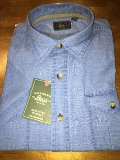 G.H. Bass & Co. Light Blue Men's Short Sleeve Casual Shirt Size Large NWT $50 #Bass