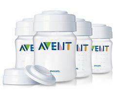 4 Recipientes de almacenamiento de leche materna -Avent- [Maman]