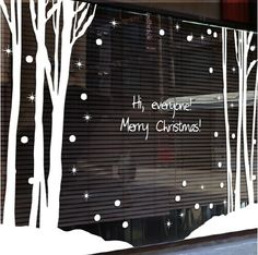 , Shop Winter Window Decorations - Great deals on Winter Window Decorations on AliExpress , Christmas Wall Sticker Forest Winter Tree Snow Quote Merry Christmas Art Wall Decal Shop Window Glass Wall Sticker Decoration(China (Mainland)). Christmas Window Decorations, Christmas Window Display, Large Christmas Tree, Christmas Art, Window Stickers, Wall Sticker, Stickers Vitrine, Winter Girl, Vitrine Design