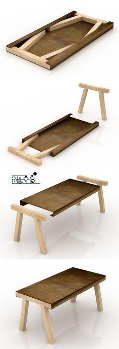 Coole Idee , aber woraus macht man bloß die Tischplatte ;)