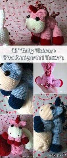 Lil' Baby Unicorn Free Amigurumi Pattern