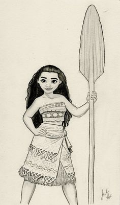 Moana (Disney Graphite Drawing) by julesrizz on DeviantArt