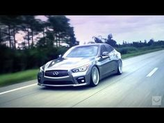 "2014 Infiniti Q50 S on 20"" Vossen CV5 Concave Wheels 