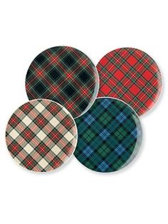 tartan salad/dessert plates from Pendleton.... perfect for Christmas.