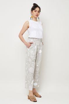 Gorman Online :: Doodles Pants - All - Clothing Gorman Clothing, Winter Must Haves, Printed Linen, Linen Pants, Work Wear, Parachute Pants, Clothes For Women, Nice Clothes, Harem Pants