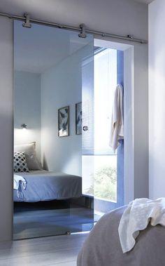 70 Ideas For Glass French Door Bathroom Sliding Glass Barn Doors, Glass French Doors, Glass Doors, Interior Design Living Room, Living Room Designs, Bedroom Decor, Bedroom Ideas, House, Home Decor