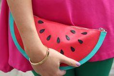 Watermelon clutch.