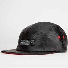 online store 92ae7 0ad35 YOUNG   RECKLESS Snakeskin Print Mens 5 Panel Hat