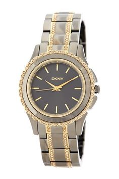 DKNY metal watch