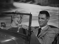 "Barnaby (Cary Grant): ""All set. Is your motor running?"" // Lois Laurel (Marilyn Monroe): ""Is yours?"" // Barnaby: ""Takes a while to warm up."" // Lois Laurel: ""Does, me too."" -- from Monkey Business (1952) directed by Howard Hawks"