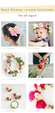 Best flower crown tutorials for all ages - perfect summer activity to do with kids - your your friends!