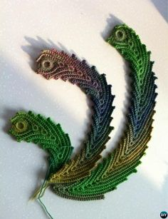 #Crochet Peacock Feather Inspiration-10 Crochet Peacock Projects Free Patterns