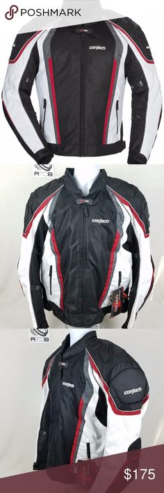 Cortech GX Sport 4.0 Mens Street Motorcycle Jacket Cortech GX-Sport Air 4 Motorcycle Riding Jacket  Brand New With Tags Cortech Jackets & Coats