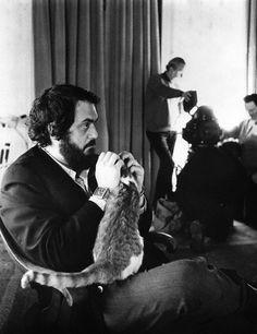 Chats des célébrités.Stanley Kubrick, réalisateur américain