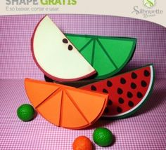 » Shape 41: Caixinhas Fatias – Laranja e Limão - Silhouette Brasil