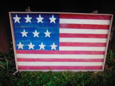 Handmade wooden flags I make $30.00 each