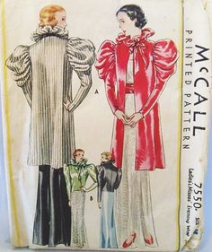 McCall 7550   Ladies' & Misses' Evening Wrap