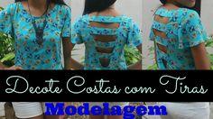 Neste vídeo mostro a modelagem de uma blusa com decote costas profundo com…