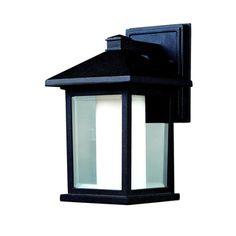 'Mesa' Black Outdoor Wall Light