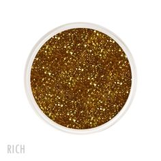 Rich Glitter. Available in 5gr. Sifter, 15gr. Sifter, Glass Bullets and Sample Jars.