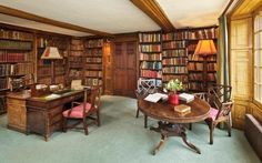 What wouldn't I give for an office like this! #Writer #Writer'sLair #HomeOffice
