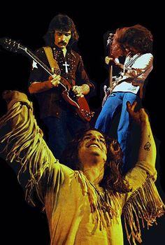 Black Sabbath, poster from swiss magazine POP 1973 Heavy Metal Radio, Heavy Metal Bands, Classic Rock And Roll, Rock N Roll, Black Sabbath Concert, Black Sabbath Live, Ozzy Osbourne Black Sabbath, Musica Metal, Geezer Butler