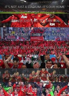 Manchester United- and this goes for any team, professional or not