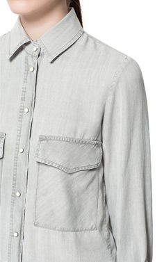 GREY SHIRT from Zara