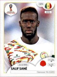 Salif Sané - Senegal World Cup Russia 2018, World Cup 2018, Fifa World Cup, Football Stickers, Football Cards, Baseball Cards, Jersey Atletico Madrid, Soccer, Sports