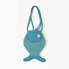 Sea Punk, Fish Bag Purse, Sea Inspired, Turquoise Blue, Tropical Fish, Kawaii, Ocean, Cute Bag Purse, Hipster