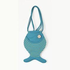 Sea Punk, Fish Bag Purse, Sea Inspired, Turquoise Blue, Tropical Fish, Kawaii, Ocean, Cute Bag Purse, Hipster