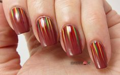 Autumn Waterfall Nails for Look Outlook 2014 Herbst