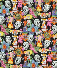 Alexander Henry Los Novios Black Fabric